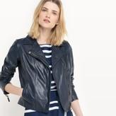 atelier R Leather Zip-Up Biker Jacket