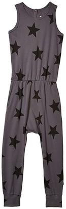 Nununu Star Romper (Little Kids/Big Kids) (Iron) Girl's Jumpsuit & Rompers One Piece