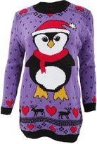 Universal Textiles Womens/Ladies Knitted Long Length Christmas Jumper (S/M)