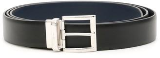 Prada Logo Engraved Buckle Belt