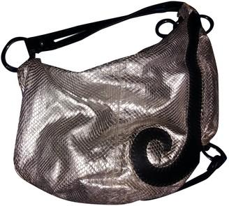 Fendi Silver Python Handbags
