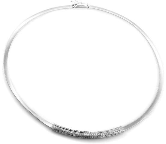 Marco Bicego 18K White Gold Diamond Pave Collar Necklace