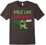 Men's Girls Like Dinosaurs Too Grawrrr T-shirt Medium