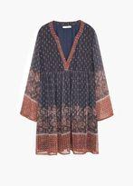 Mango Outlet Flowy Print Dress
