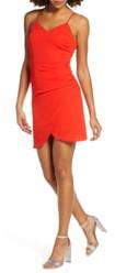 NSR Carrie Ruched Mini Dress