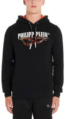 Philipp Plein Logo Embellished Hoodie