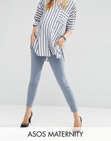 Asos Ridley Skinny Jean In Nevaeh Wash With Under The Bump Waistband