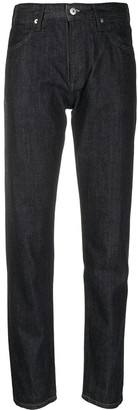 Jil Sander Logo-Applique Slim-Fit Jeans