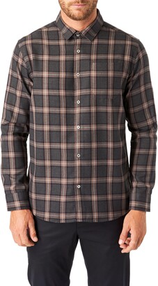 7 Diamonds River Trim Fit Check Button-Up Shirt