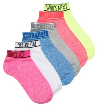 Mix No. 6 Sporty Women's Ankle Socks - 6 Pack