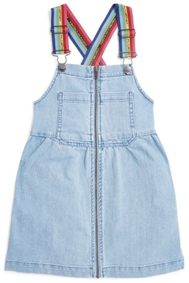 Stella McCartney Rainbow Logo-Strap Dungaree Dress