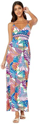 Trina Turk Paradise Plume Maxi Dress Cover-Up (Multi) Women's Swimwear