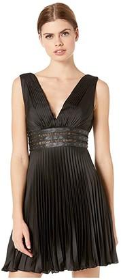 BCBGMAXAZRIA Eve Short Woven Dress (Black) Women's Dress
