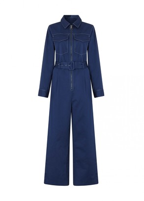 Kitri Scout Navy Tailored Jumpsuit