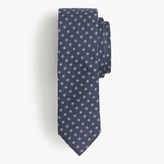 J.Crew English silk tie with embroidered flowers