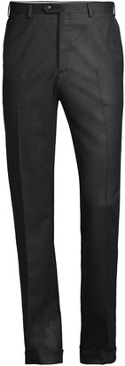 Brioni Solid Pleat Wool & Cashmere Trousers