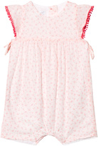 Absorba White and Pink Spot Print Bow Dress and Bloomers Set