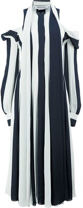 Monse Cold-Shoulder Stripe Kaftan