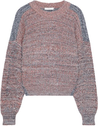 Joie Fernlea Marled Two-tone Knitted Sweater