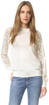 Clu Pullover with Lace Sleeves