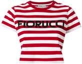 Fiorucci striped cropped T-shirt