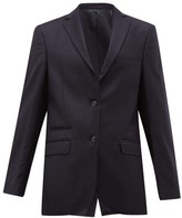 Officine Generale Charlene Single-breasted Pindot-wool Blazer - Womens - Navy