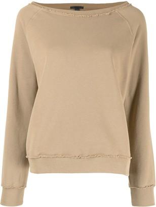ATM Anthony Thomas Melillo Unfinished-Effect Sweatshirt