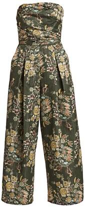 Rachel Comey Tristan Floral Strapless Jumpsuit