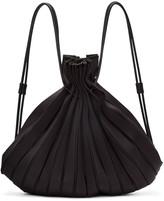 Issey Miyake Black Linear Knit Rucksack