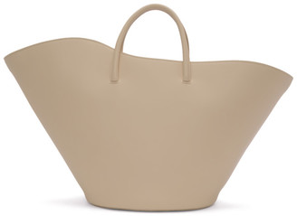 Little Liffner Off-White Large Two-Way Tulip Tote