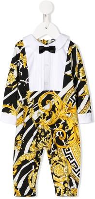 Versace Printed Tuxedo Babygro