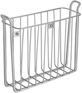 InterDesign Classico Wall Mount Newspaper and Magazine Holder Rack for Bathroom, Silver