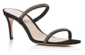 Schutz Women's Taleen Crystal Mid-Heel Sandals