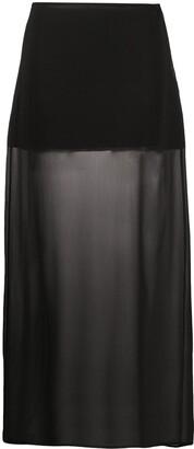 Jil Sander Pre Owned 1990s Semi-Sheer Long Skirt