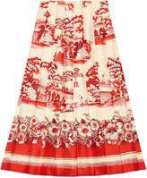 Gucci Porcelain Garden print silk skirt