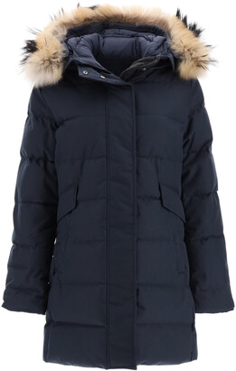 Pyrenex GRENOBLE PARKA WITH FUR T3 Blue Technical