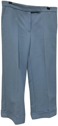 Sandro Spring Summer 2019 Blue Cloth Trousers for Women