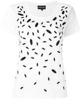 Emporio Armani contrast print T-shirt - women - Cotton/Modal - 38