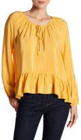 Amanda Uprichard Sage Ruffle Silk Top