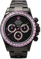 MAD Paris black Daytona pink sapphire watch