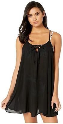 Roxy Solid Beach Classics Cover-Up Dress (True Black) Women's Swimwear