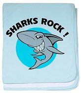 CafePress - Sharks rock! baby blanket - Baby Blanket, Super Soft Newborn Swaddle