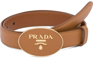 Prada saffiano finish belt