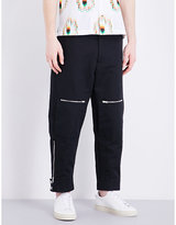 Stella Mccartney Cotton And Linen Mid-rise Trousers