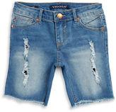 Vigoss Girls 7-16 Girls Distressed Cut-Off Denim Shorts