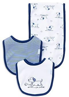 Little Me Infant Boys' Puppy Bib & Burp Cloth Set - Baby