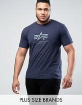 Alpha Industries PLUS Logo T-Shirt Regular Fit in Navy