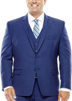 COLLECTION Collection by Michael Strahan Blue Herringbone Suit Jacket - Big & Tall