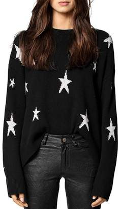 Zadig & Voltaire Markus Star-Printed Cashmere Sweater