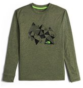The North Face Long-Sleeve Reaxion Geometric Mountain Tee, Green, Size XXS-XL